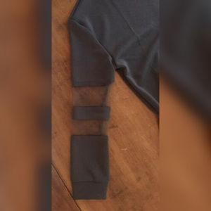 Tobi Dresses - TOBI LONG SLEEVE SWEATSHIRT DRESS Mesh Sleeves